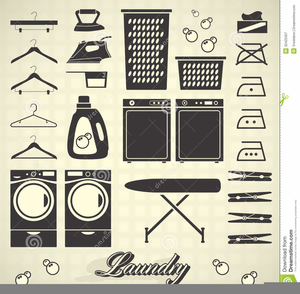 Laundry Room And Equipment Clipart.