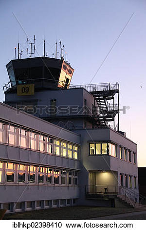 "Stock Photography of ""Tower, Airport, Laupheim, Baden."