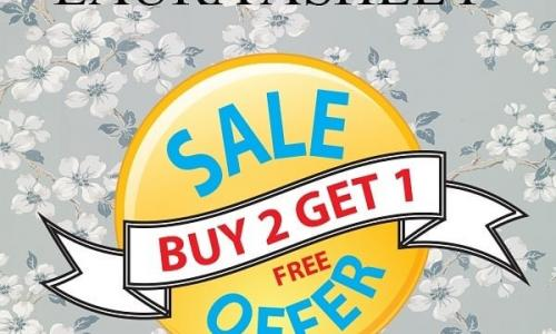 Buy 2 and get 1 Offer at Laura Ashley Home, September 2018.