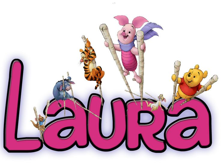 Clipart outline of the name laura.