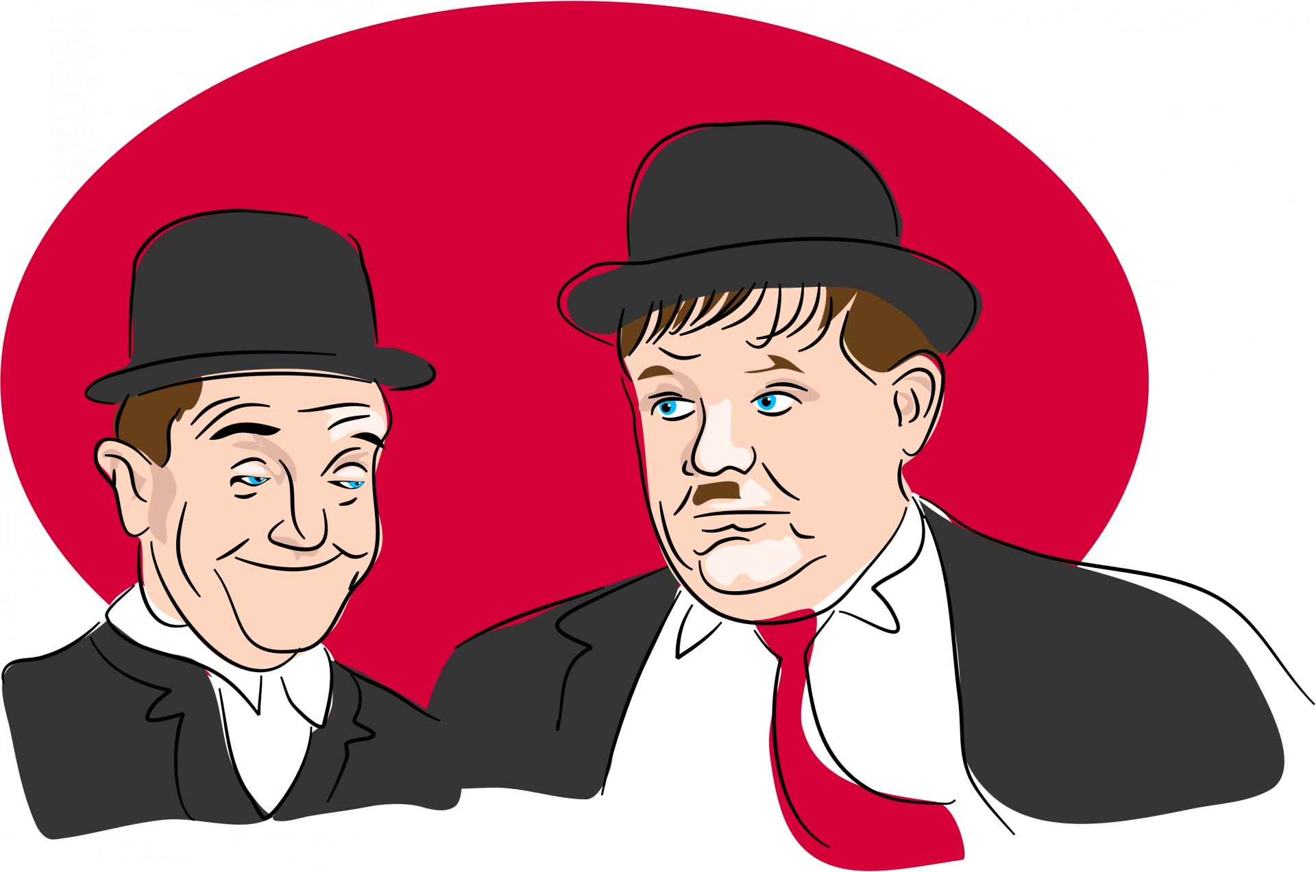 Laurel & Hardy Clipart Free Stock Photo.