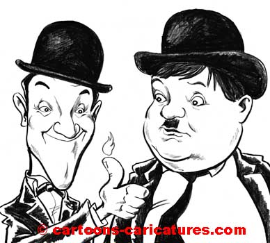 Caricatures.