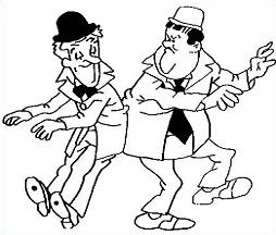 Free Laurel and Hardy Clipart.