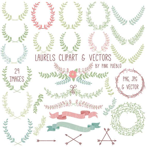 Laurel Clipart Clip Art, Laurel Wreath Leaf Clip Art Clipart.