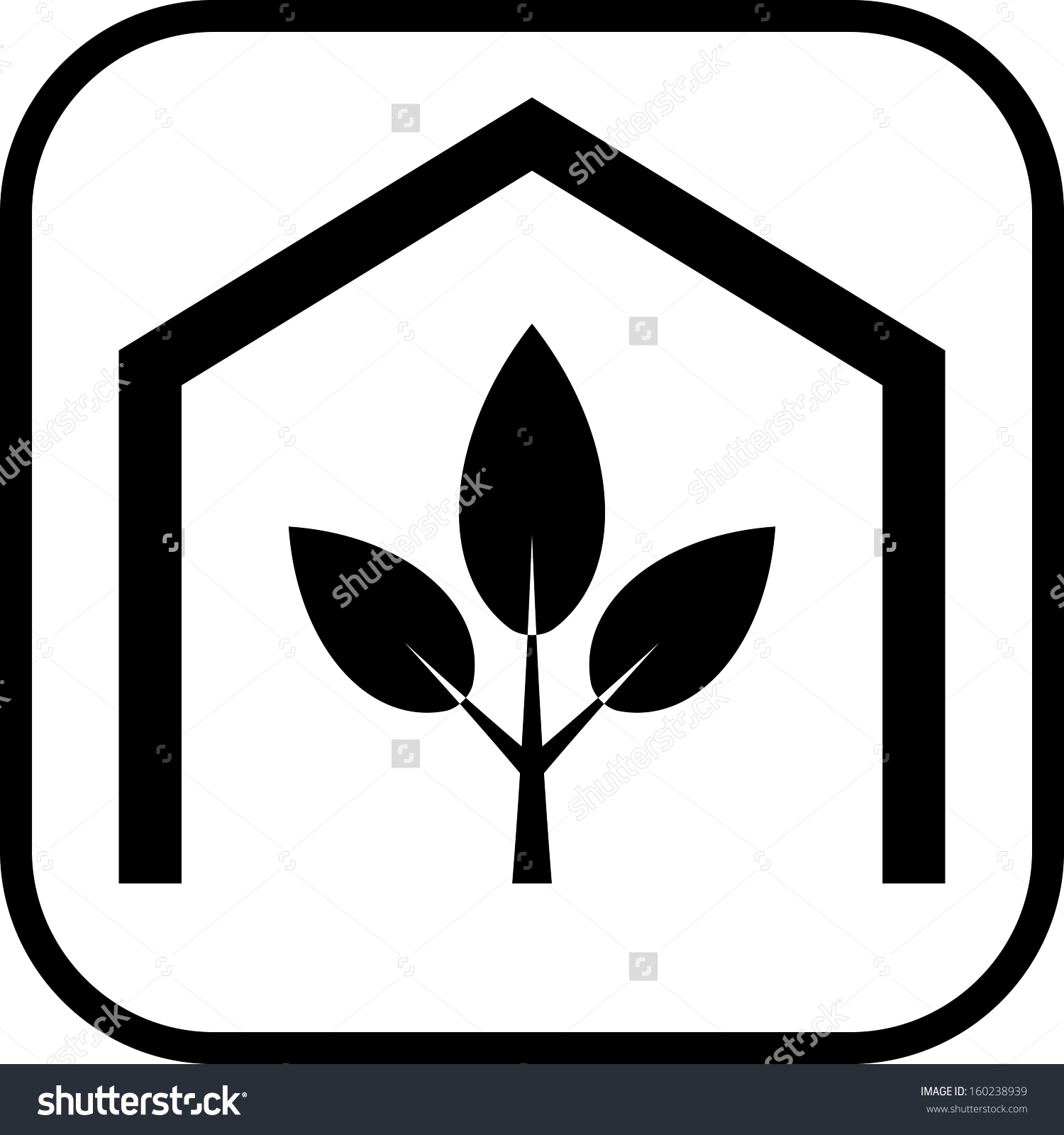 Greenhouse Plant Vector Icon Isolated Stock Vector 160238939.