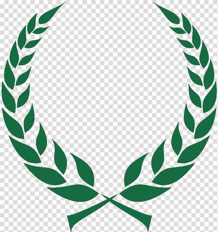 Green leaves logo, Laurel wreath Olive wreath Bay Laurel.