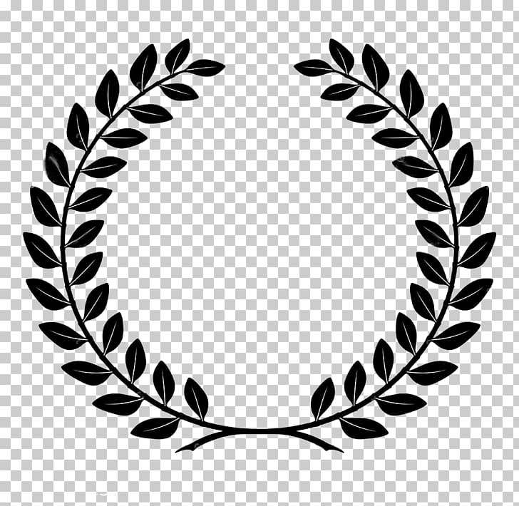 Bay Laurel Laurel wreath, Laurel wreath, black leaf logo PNG.