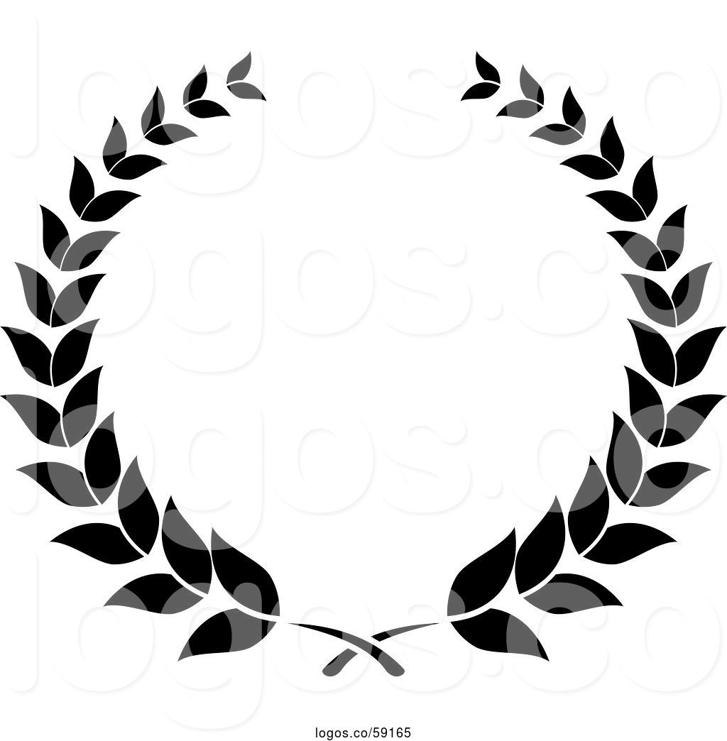 Logo of Black and White Laurel Wreath 2 by Vector Tradition.