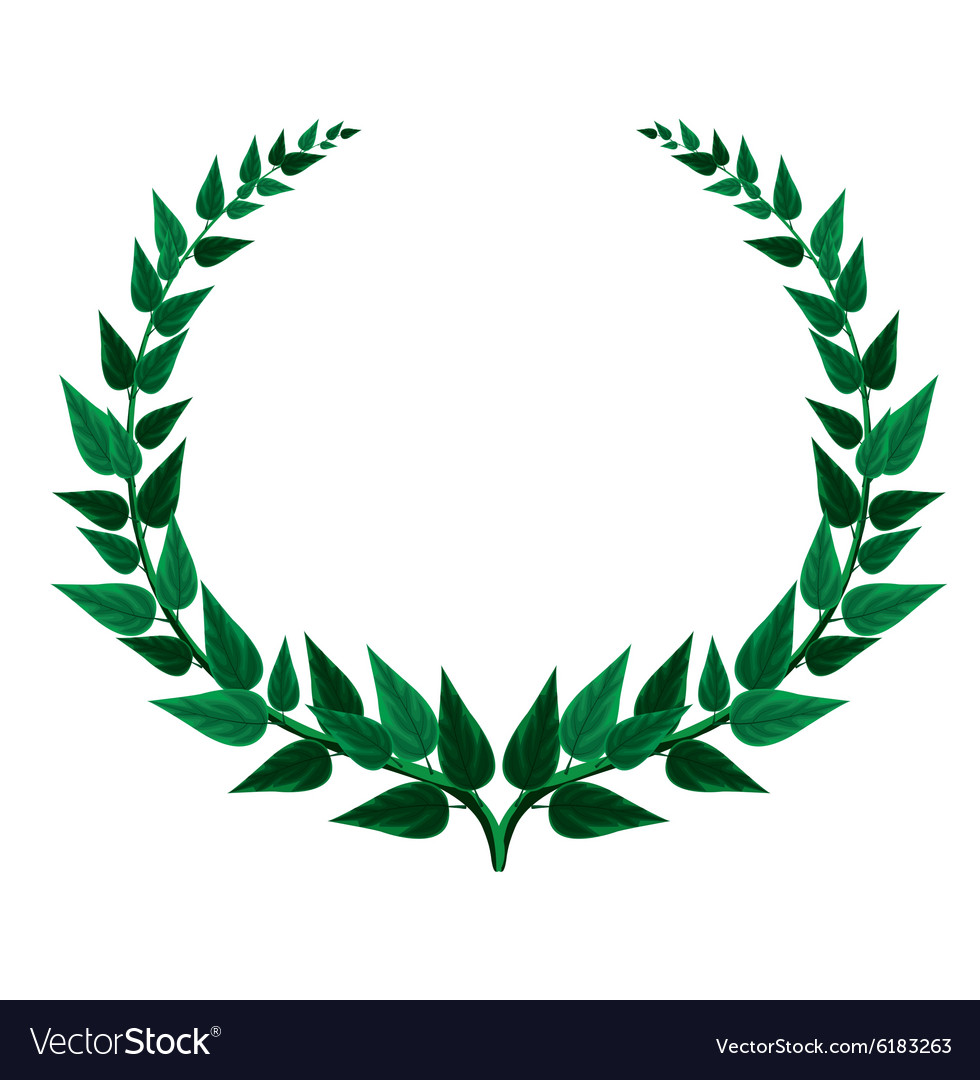 Green Laurel wreath.