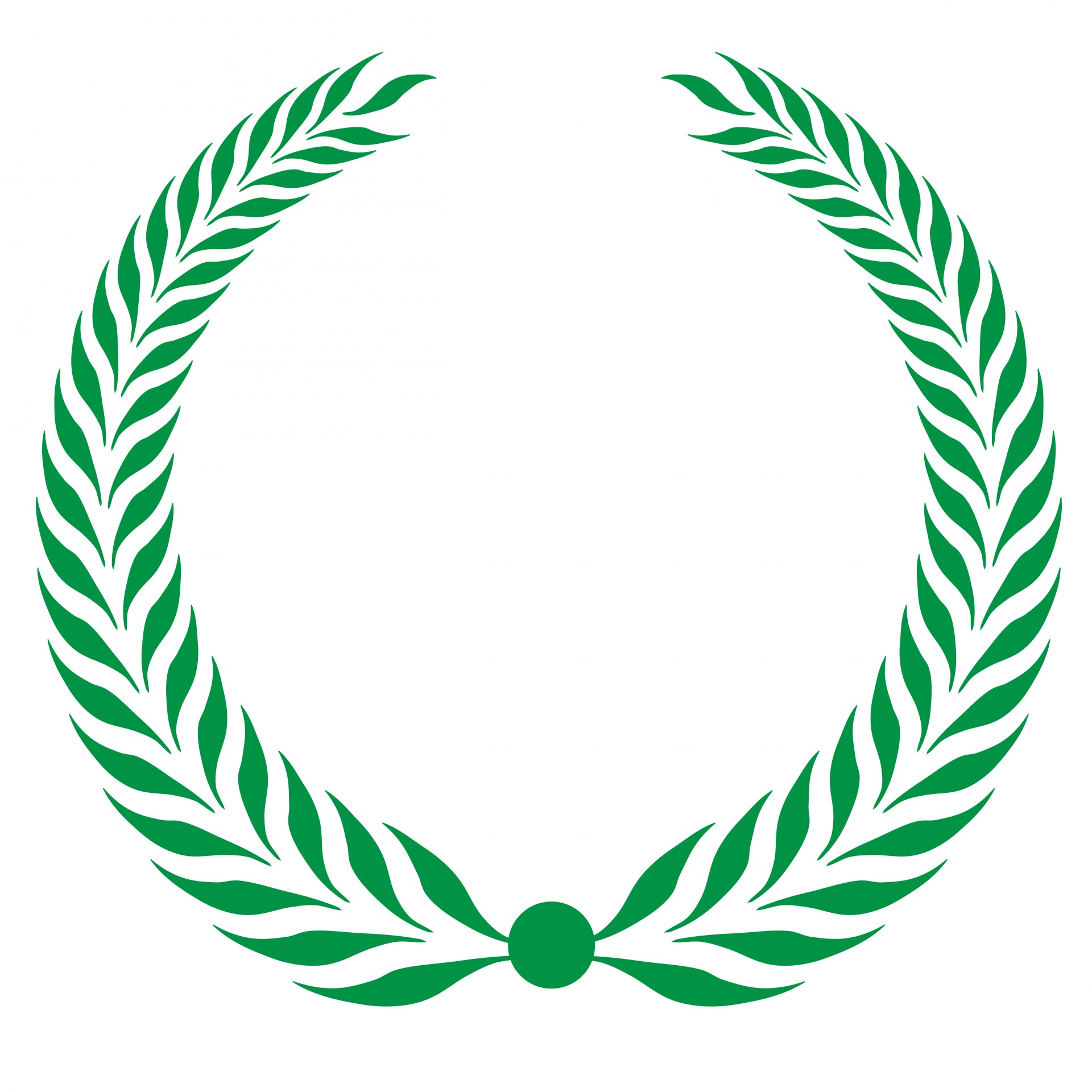 Laurel Wreath Clipart Green Free Stock Photo.