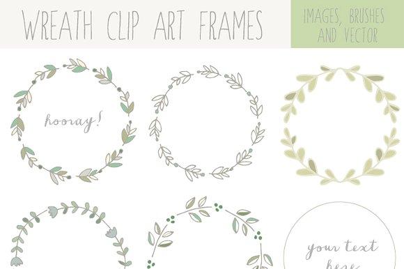 Handdrawn Laurel Wreath Clip Art ~ Illustrations on Creative Market.