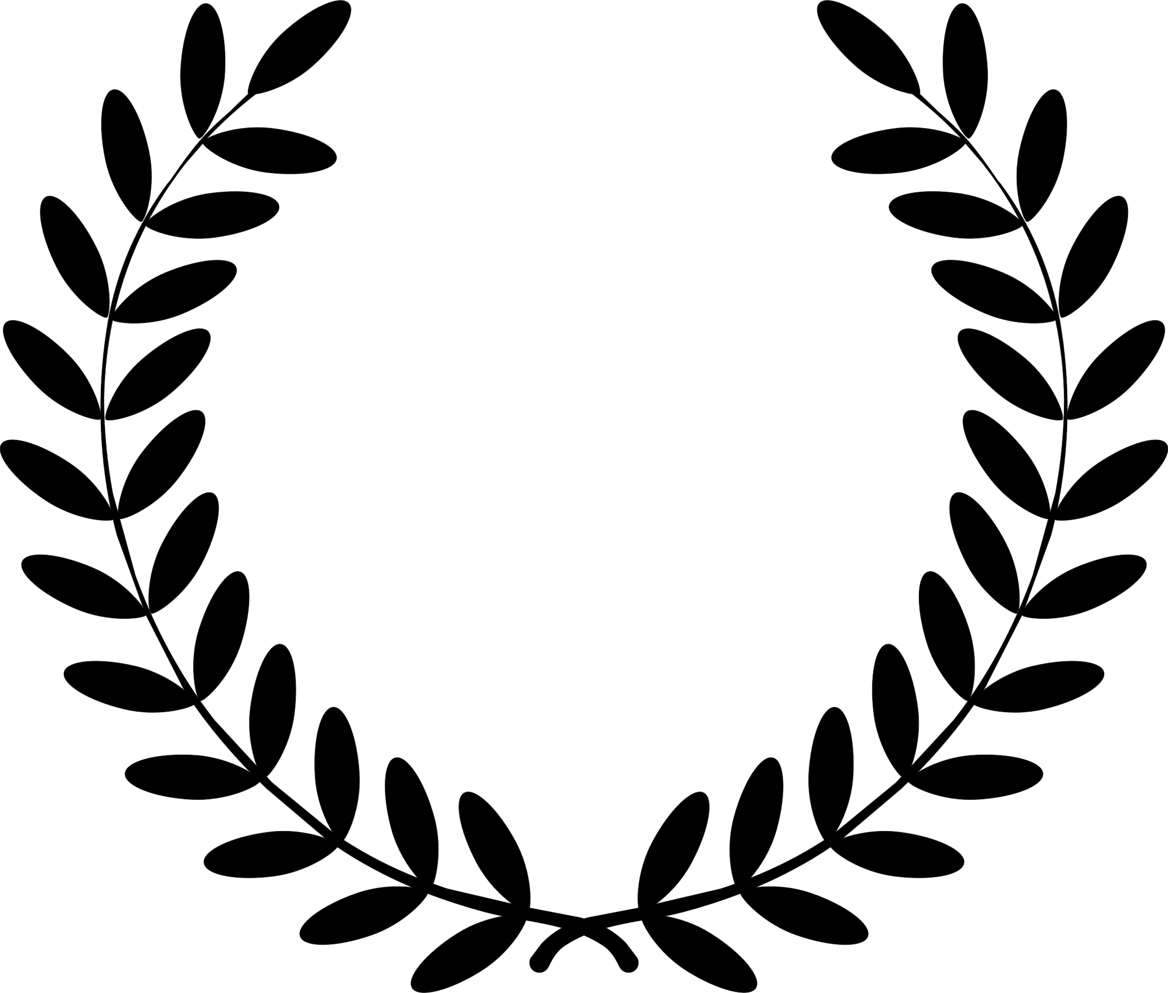 Free laurel wreath clipart.