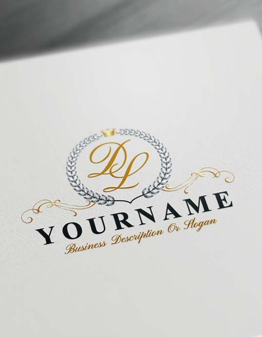 Make logo online Laurel Wreath Logo Template Free Letters Logo Maker.