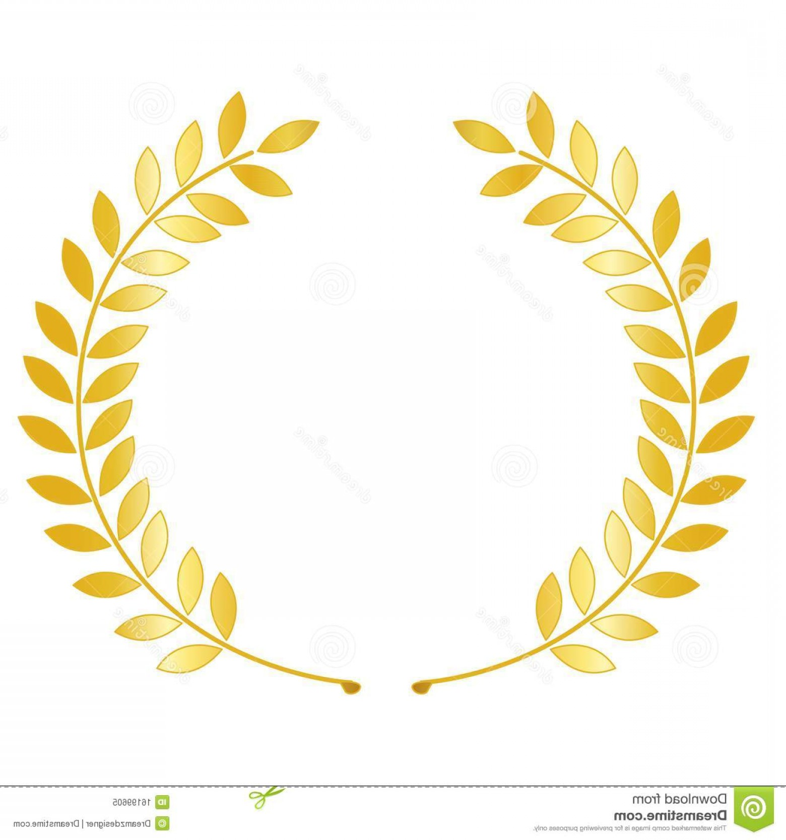 Royalty Free Stock Photo Gold Laurel Wreath Image.