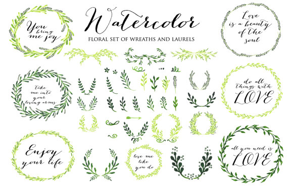 Laurels Clipart, Ribbons, Wreaths, Banners, Arrows. Clip Art For.