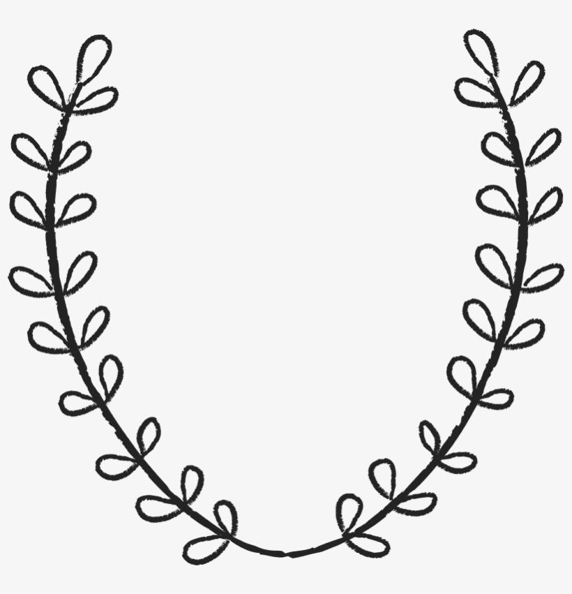 Laurel Wreath Rubber Stamp.