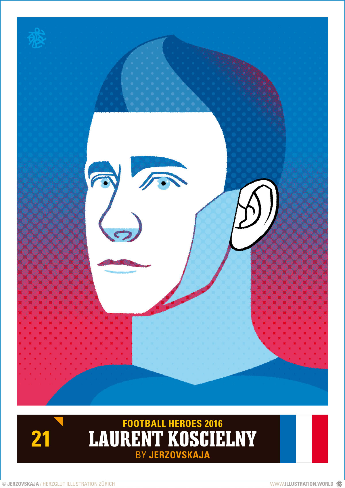 Koscielny Laurent Black and White Clip Art.