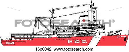 Clipart of CCGS Louis S St Laurent 16p0042.
