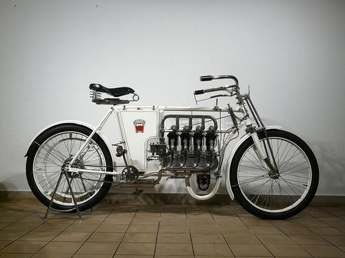 A Laurin & Clement 640cc motorcycle from 1904..