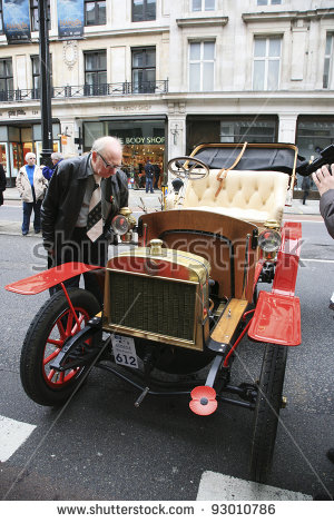 London To Brighton Veteran Car Run Stock Photos, Royalty.