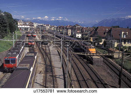 Stock Photography of train, TGV, Lausanne, Switzerland, Vaud.