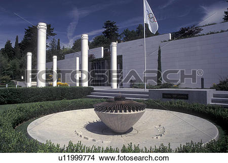 Stock Photo of Lausanne, Switzerland, Ouchy, Olympic Museum, Vaud.
