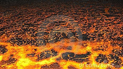 Lava Flow (Render) Stock Images.