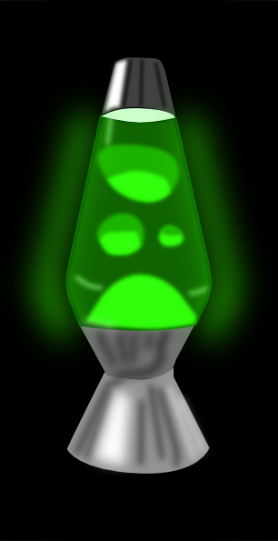 Lava Lamp Glowing Green Clip Art at Clker.com.
