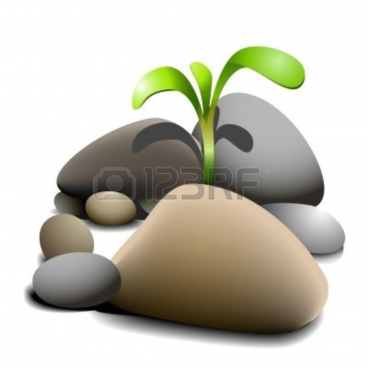 Pile of stones clipart.