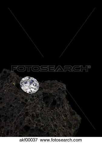 Picture of Diamond on Lava stone akf00037.