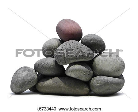 Stock Photography of Smooth lava stones pile k6733440.