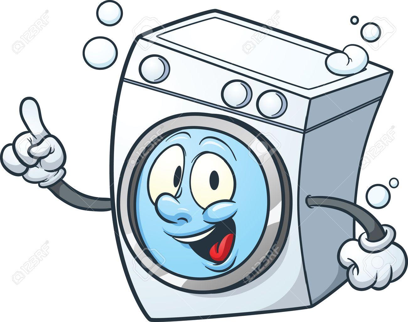 Cartoon Washing Machine Clipart.