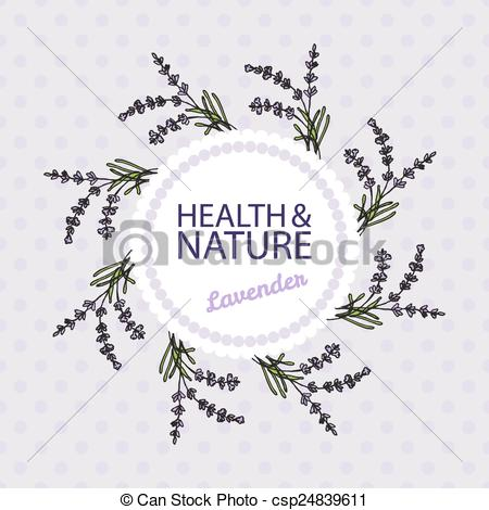 Vector Clip Art of Health and Nature Collection Lavender.