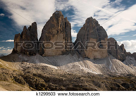 Stock Photo of Tre cime di Lavaredo k1299503.