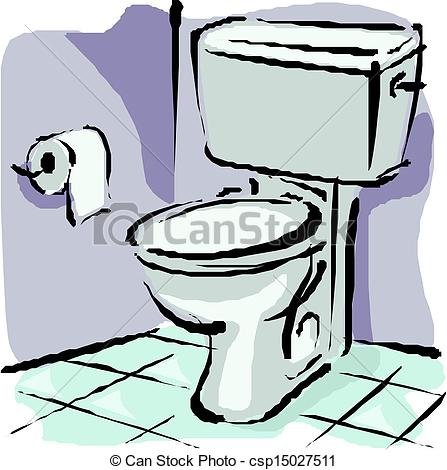 Vector Clip Art of Home flush toilet csp15027511.
