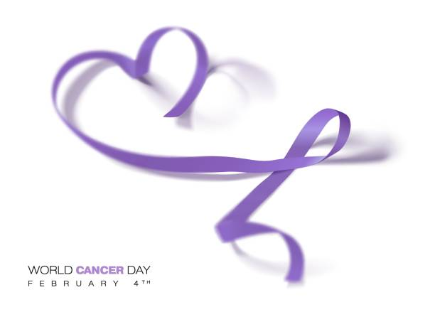 Best Lavender Cancer Ribbon Illustrations, Royalty.
