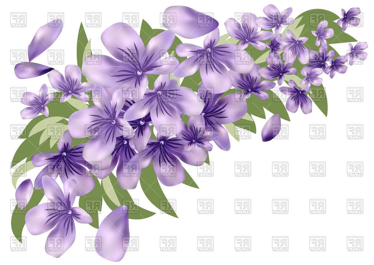 Unique Lavender Flower Border Clip Art Image » Free Vector.