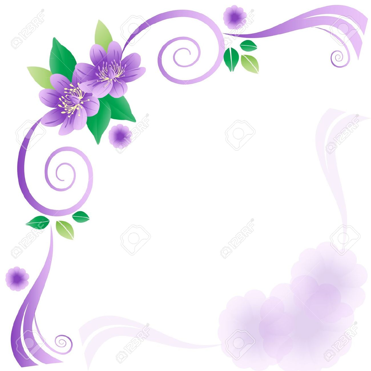 Wedding Card With Lavender Flowers Royalty Free Cliparts, Vectors.