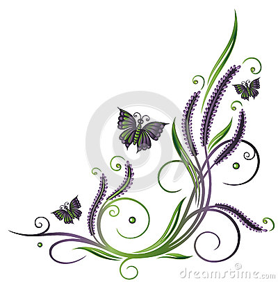 Lavender Leaves Clip Art.