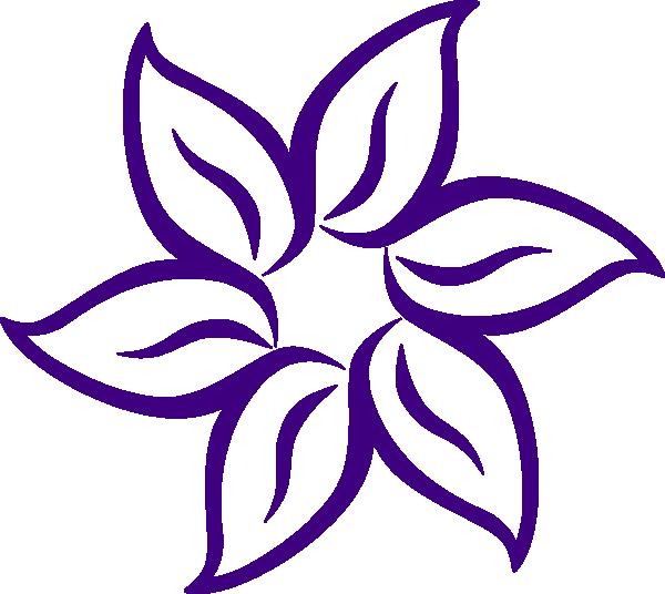 Purple Flower Border Clip Art.