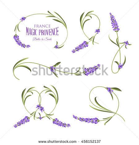 Lavender Silhouette Stock Photos, Royalty.