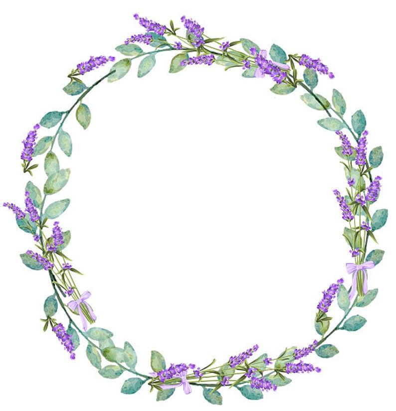 Lavender Clipart Lavender Wreath Purple Wreath Floral Wreath.