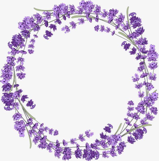 Lavender Wreath PNG, Clipart, Beautiful, Border, Border.