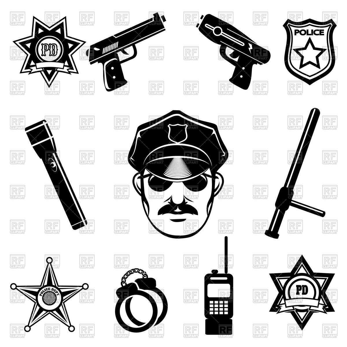 Police symbols.