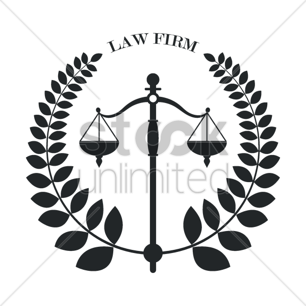 Law Firm Logo Element Vector Image.