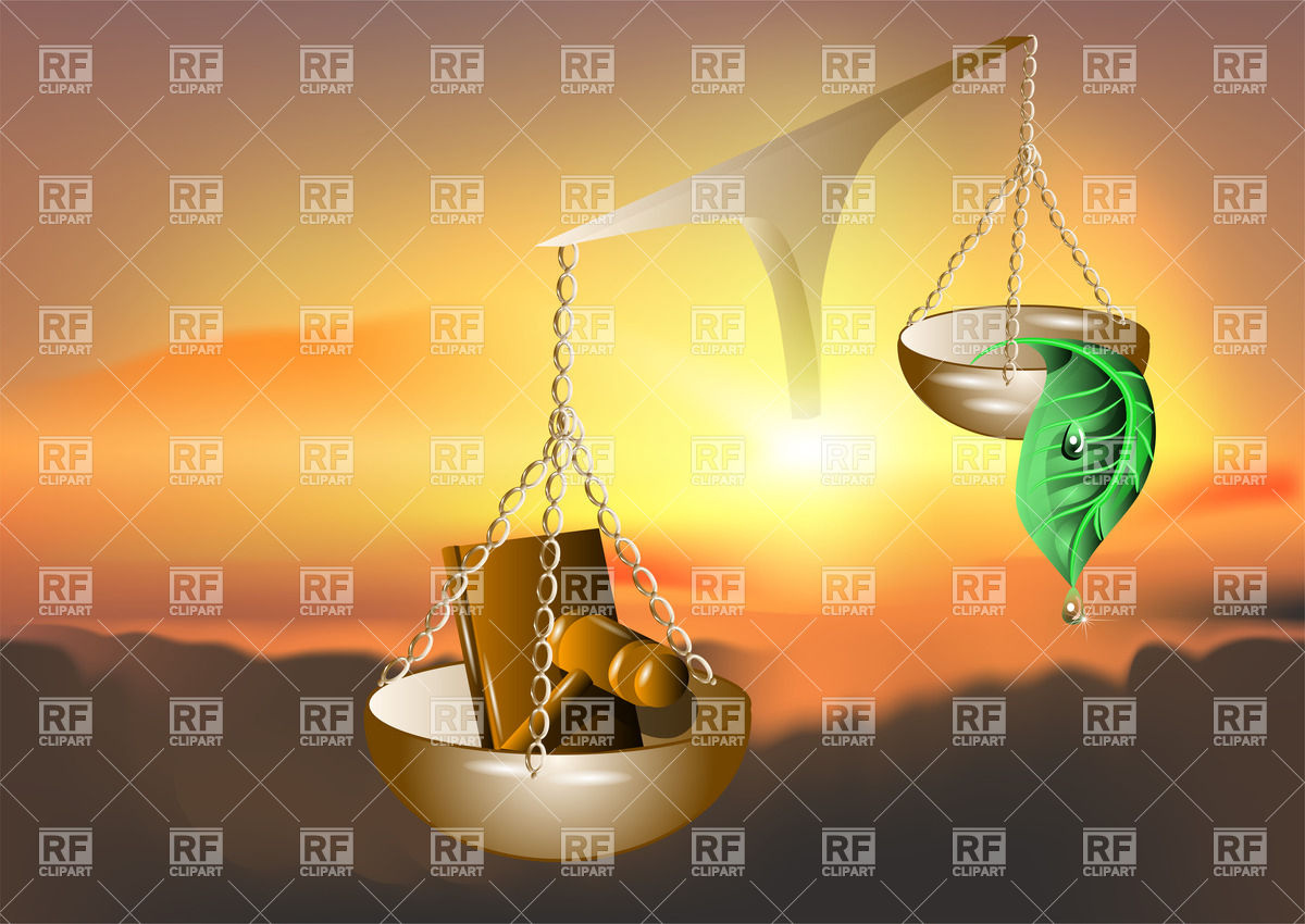 Nature and law on ancient scales Vector Image #27423.