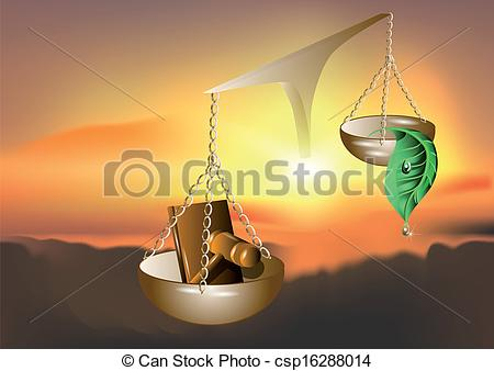 Vector Clip Art of nature and the law. abstract background in 10.