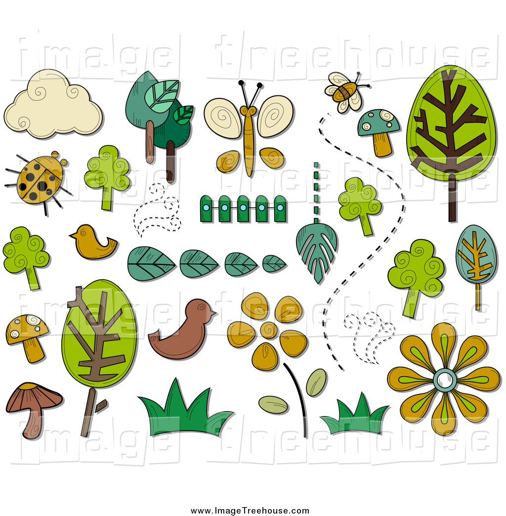 Clipart of ANature Icons and Items by BNP Design Studio.