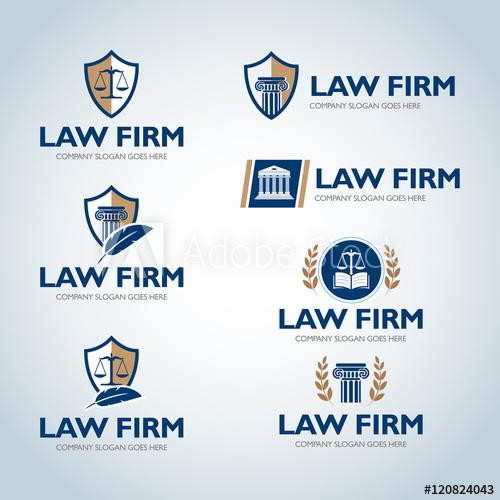 Lawyer logo design templates. Law office logo set. The judge.