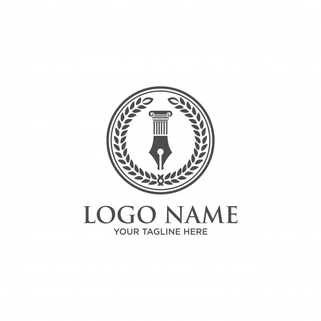 Law firm, law office logo template Vector.